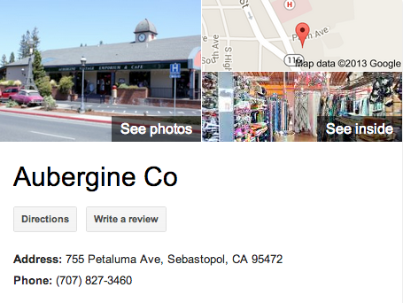 Aubergine Co   Google 3D Tour Sebastopol