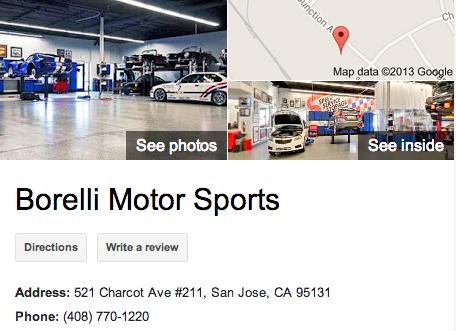Borelli Motor Sports  | Google 3D Tour San Jose