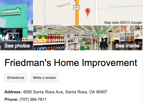 Friedman's Home Improvement   Google 3D Tour Santa Rosa
