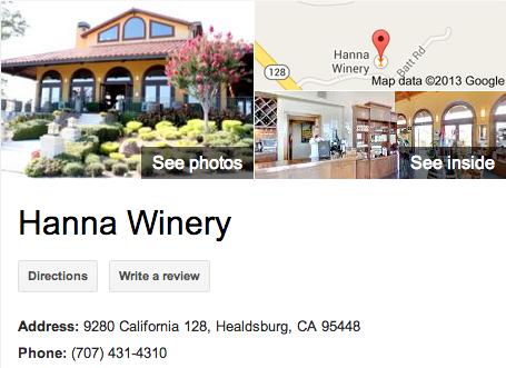 Hanna Winery   Google 3D Tour Healdsburg