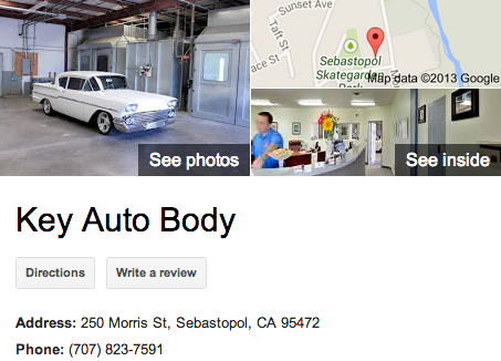 Key Auto Body | Google 3D Tour Sebastopol