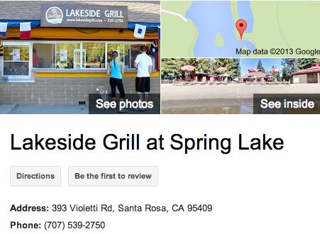 Lakeside Grill | Google 3D Tour Santa Rosa