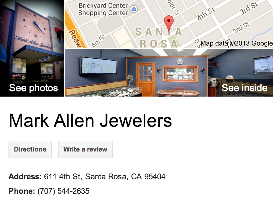 Mark Allen Jewelers  | Google 3D Tour Santa Rosa