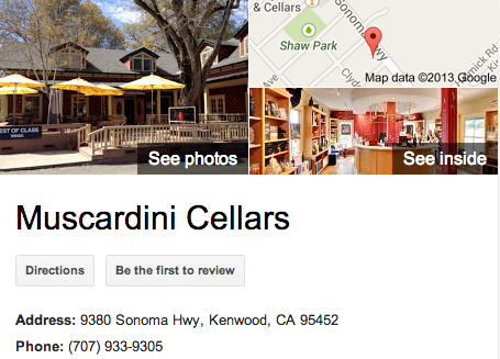 Muscardini Cellars | Google 3D Tour Kenwood