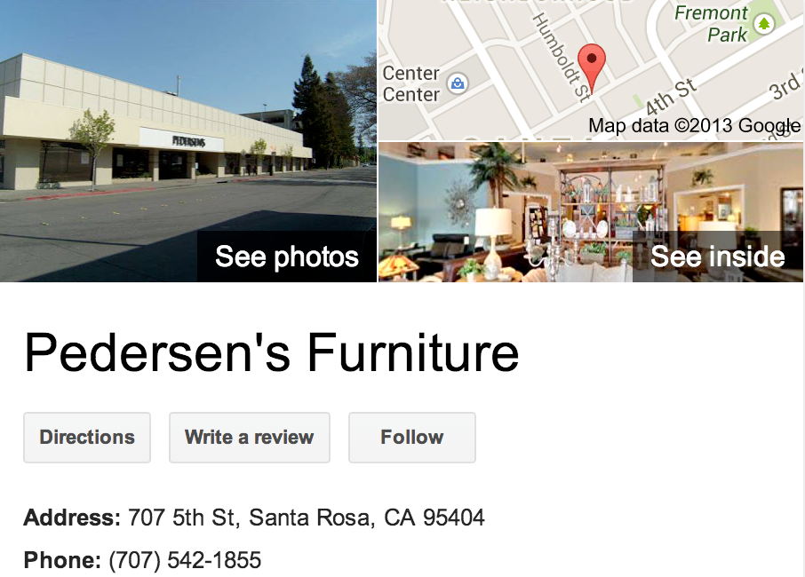 Pedersen's Furniture | Google 3D Tour Santa Rosa