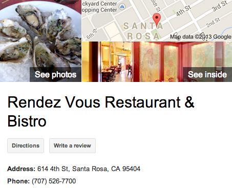 Rendez Vous Restaurant   Google 3D Tour Santa Rosa