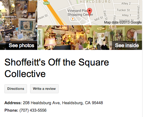 Shoffeitt's Off the Square | Google 3D Tour Healdsburg
