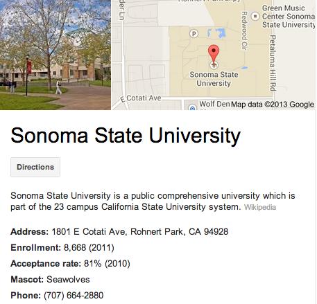 Sonoma State University | Google 3D Tour Rohnert Park