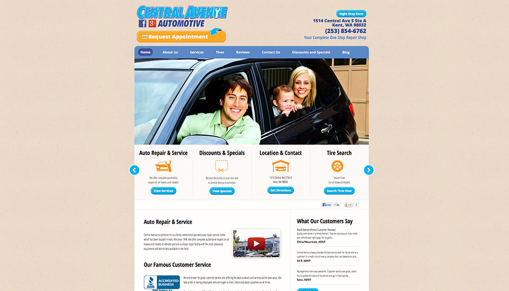 Central Avenue Automotive Homepage