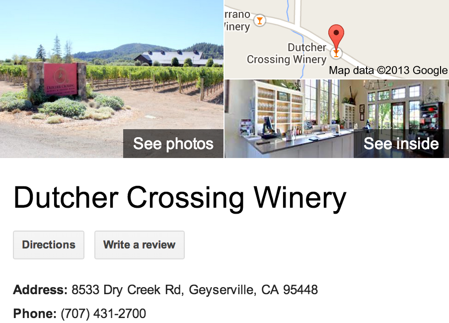 Dutcher Crossing Winery | Google 3D Tour Geyserville