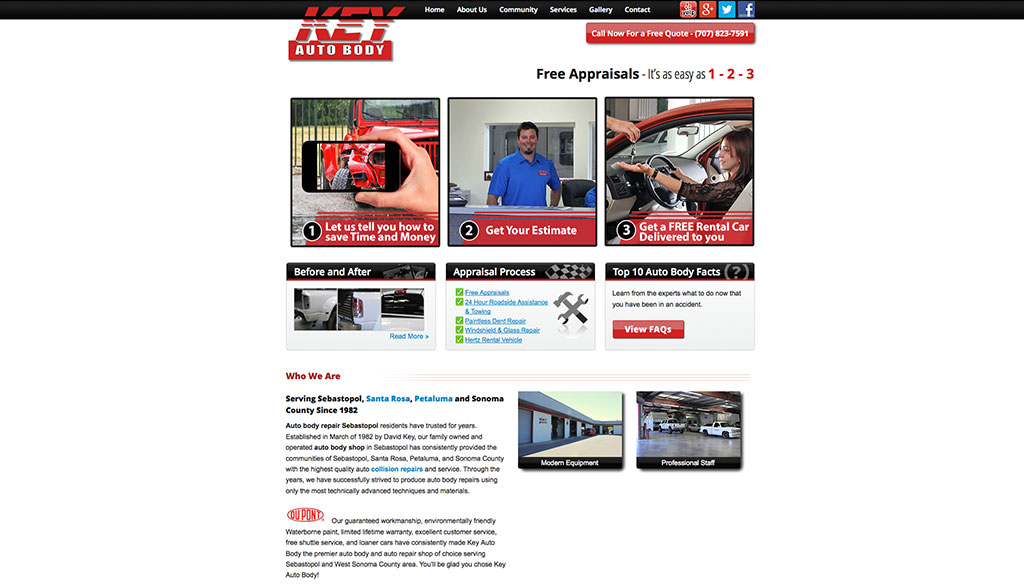 Key Auto Body Homepage