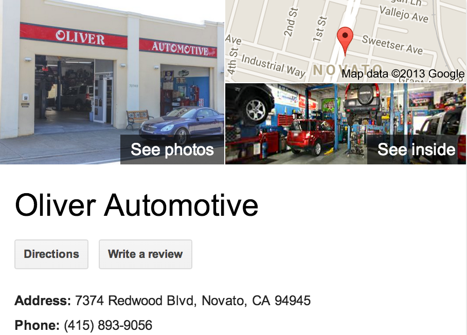 Oliver Automotive | Google Business View Novato