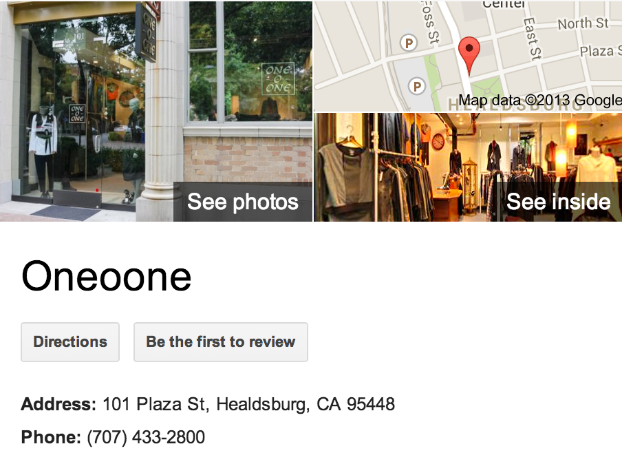One o One | Google Business View Healdsburg