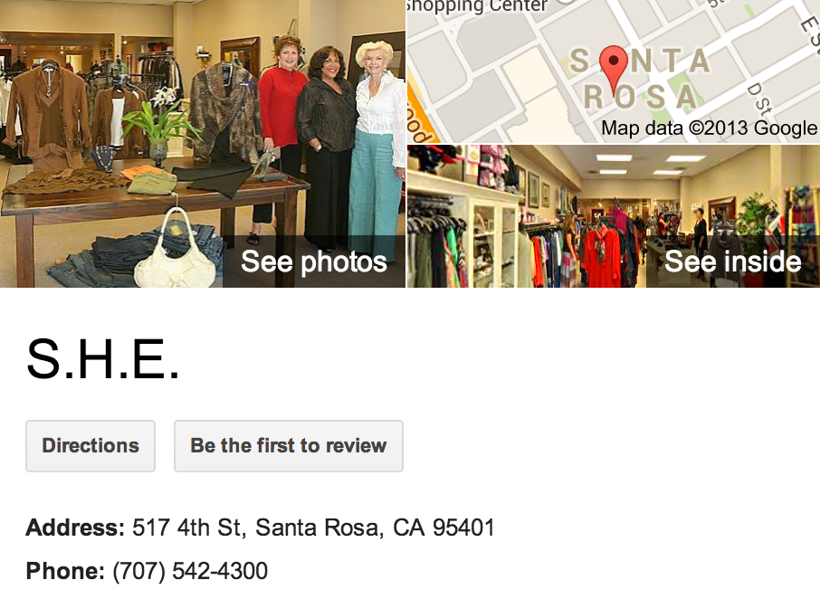 S.H.E | Google Business View Santa Rosa