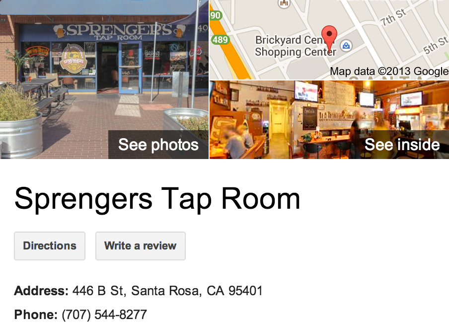 Sprengers Tap Room | Google Business View Santa Rosa
