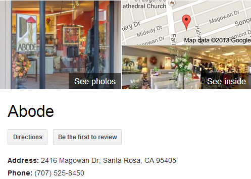 Google Business View for a Gift Shop. Look Inside!
