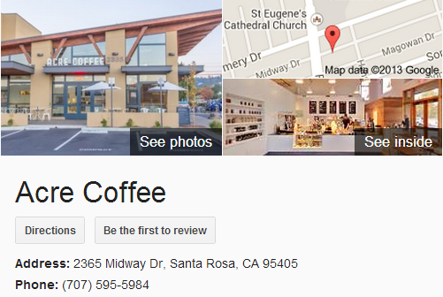 Google Business View for a Coffee Shop. Look Inside!