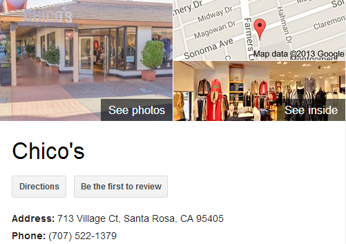 Google Business View for a Women's Clothing Store. Look Inside!