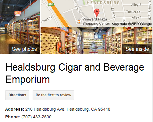 Google Business View for Tobacco Shop . Look Inside!