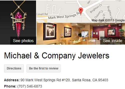 Google Business View for Jewelry Designer. Look Inside!