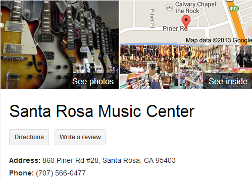 Google Business View for a Music Store. Look Inside!