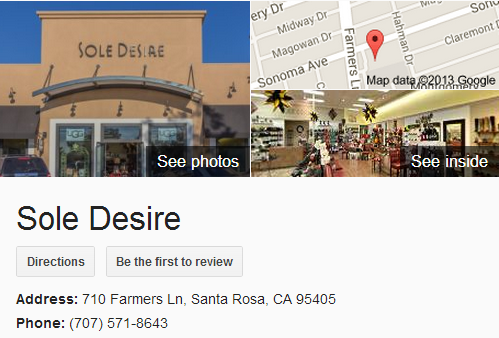 Google Business View for a Shoe Store. Look Inside!