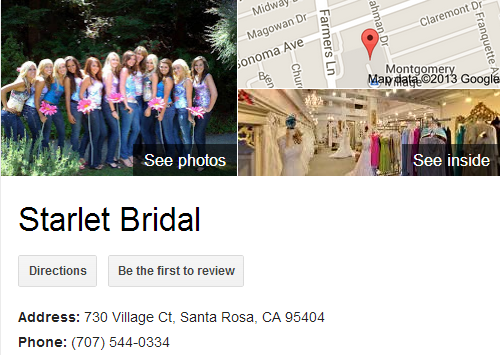 Google Business View for a Bridal Store. Look Inside!