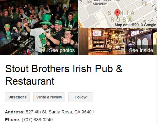 Google Business View for a Irish Pub & Restaurant. Look Inside!