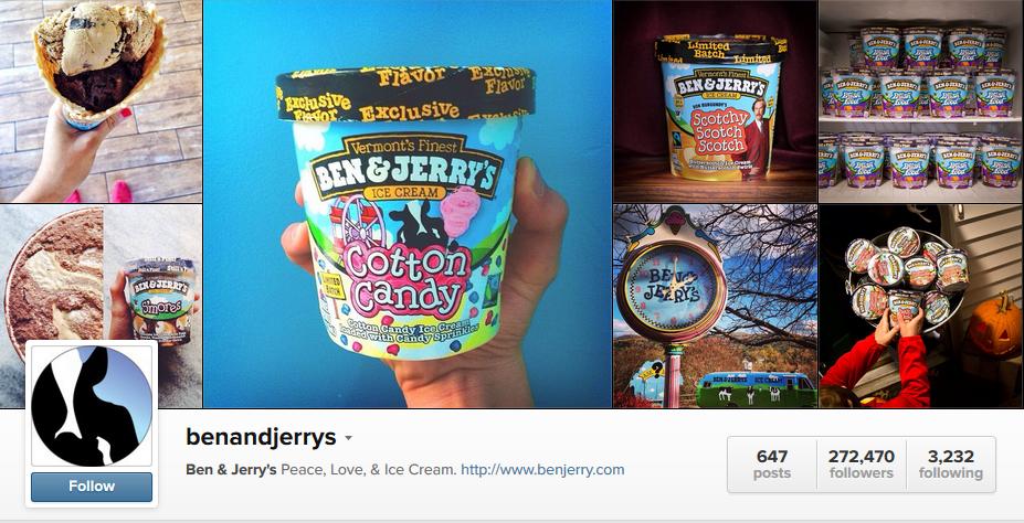 Instagram Ben & Jerry's