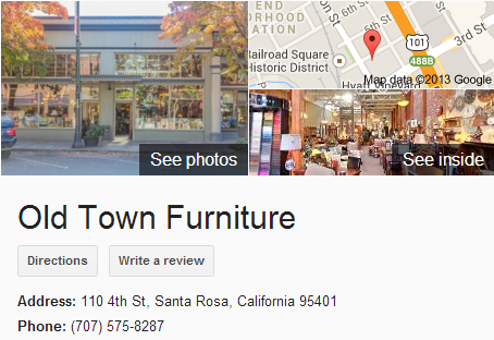 Google Business View for a Furniture Store.  Look Inside!