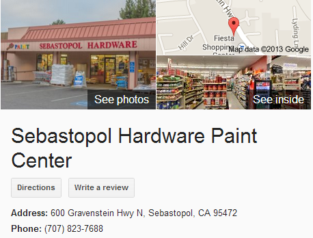 Google Business View for a Paint Store.  Look Inside!