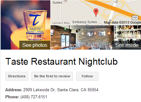 Google Business View for a Restaurant Nightclub.  Look Inside!