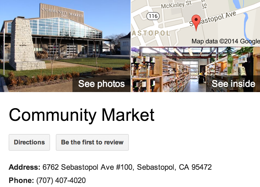 Google Business View for a Grocery Store.  Look Inside!