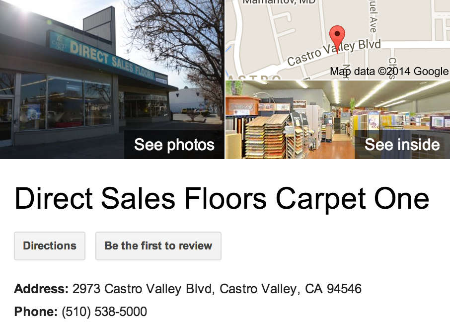 Google Business View for a Flooring Company.  Look Inside!