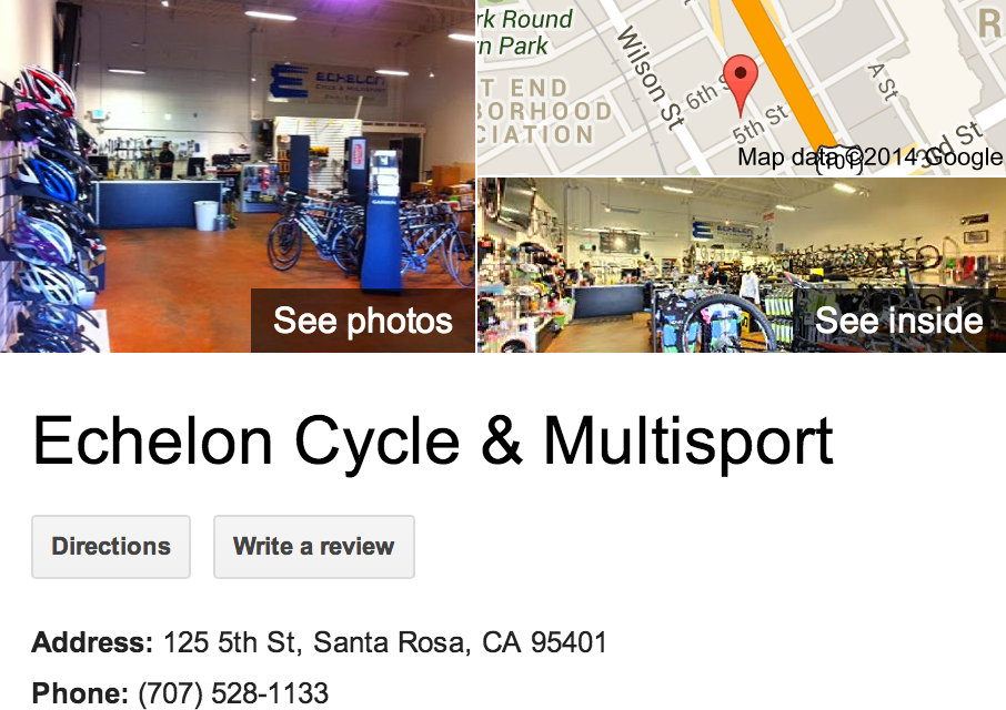 Google Business View for a Bicycle Store.  Look Inside!