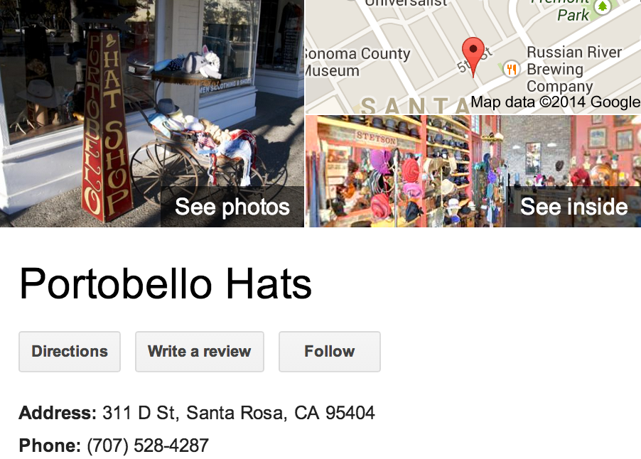 Google Business View for a Hat Shop.  Look Inside!