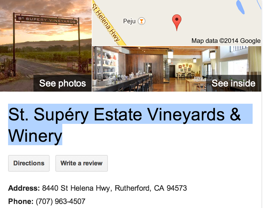 Google Business View for a Vineyard and Winery.  Look Inside!