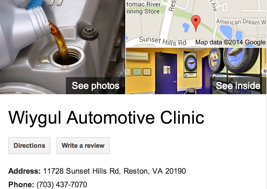 Google Business View for an Auto Repair.  Look Inside!