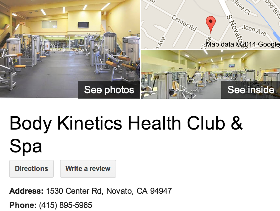 Google Business View for a Health Club. Look Inside!