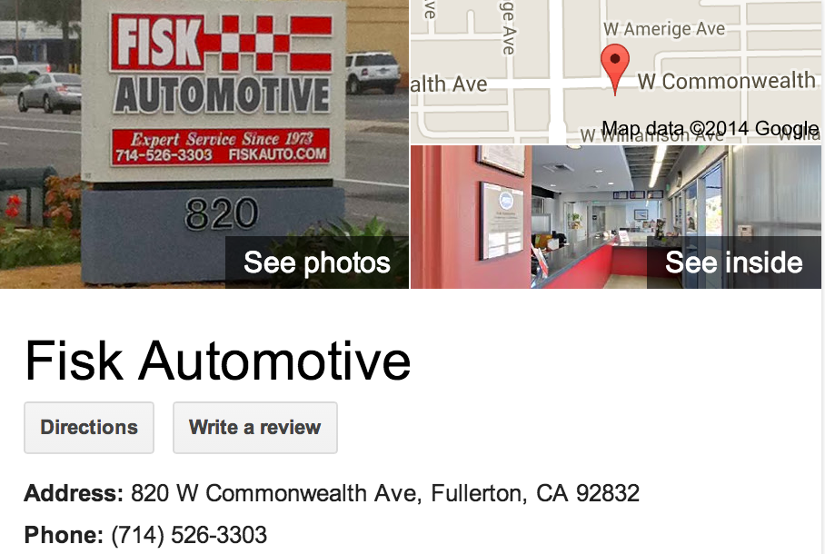 Google Business View for an Automotive Repair & Maintenance.  Look Inside!