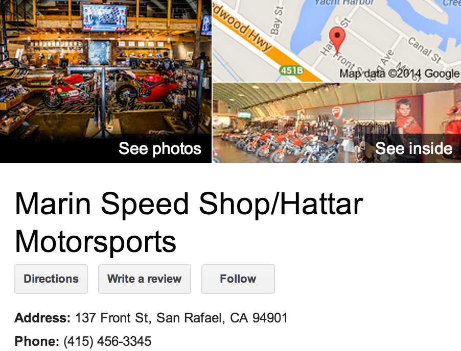 Google Business View for a Motorcycle Dealer.  Look Inside!