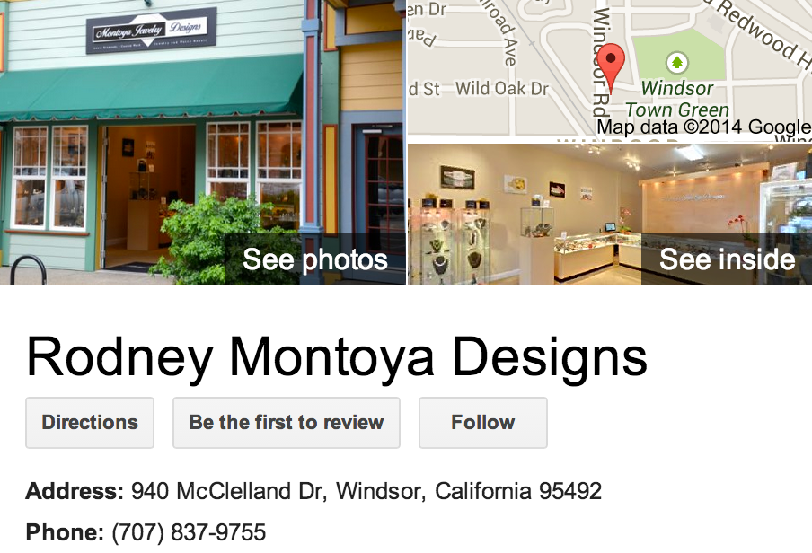 Google Business View for a Jewelry Designer.  Look Inside!