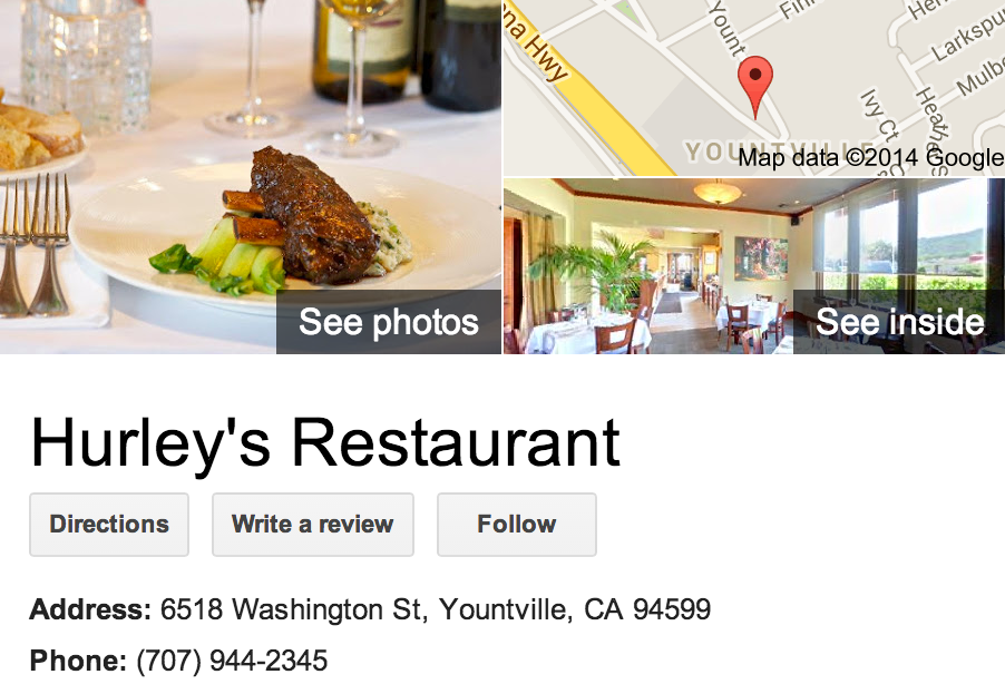 Google Business View for an Mediterranean Restaurant.  Look Inside!