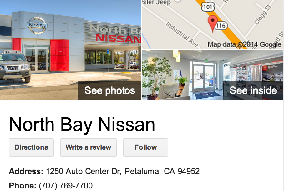 Google Business View for a Nissan Dealer.  Look Inside!