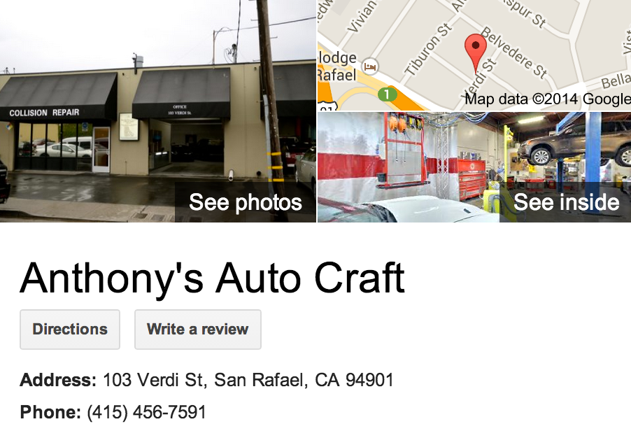 Google Business View for an Auto Body Shop.  Look Inside!