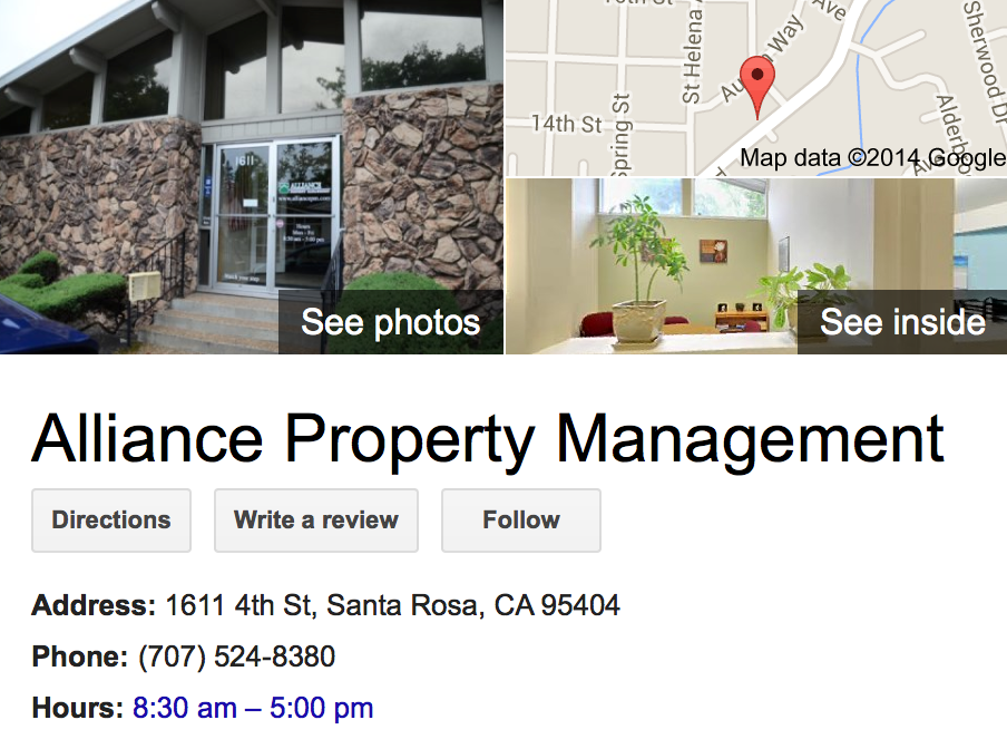 Google Business View for a Property Management Company.  Look Inside!