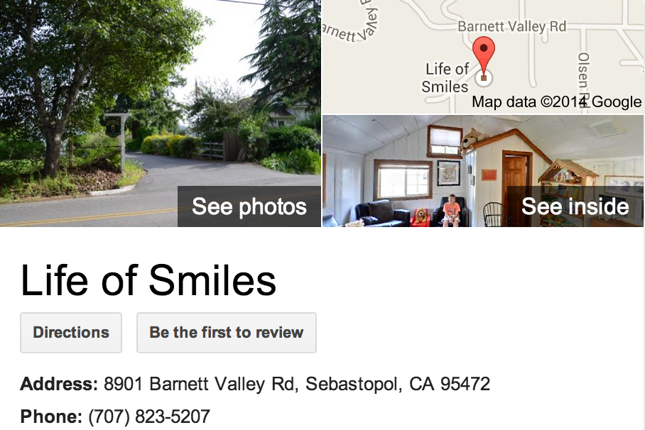 Google Business View for a Pediatric Dentist.  Look Inside!
