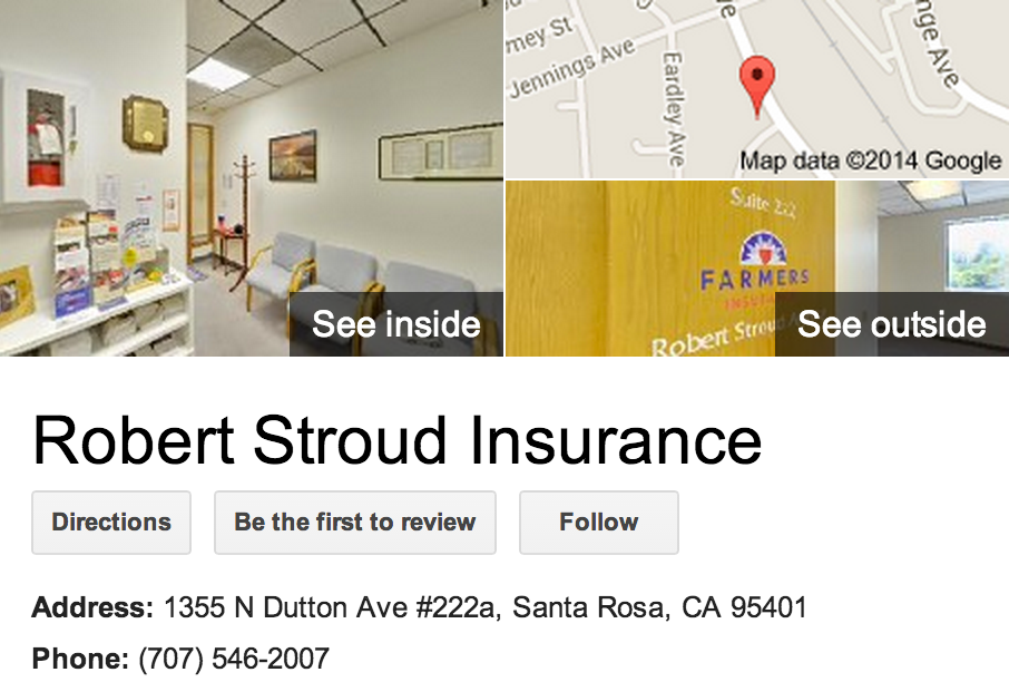 Google Business View for Insurance Agency.  Look Inside!