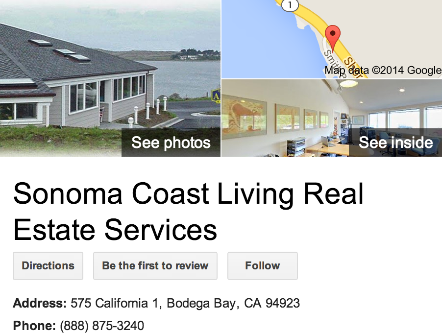 Google Business View for a Real Estate Office.  Look Inside!