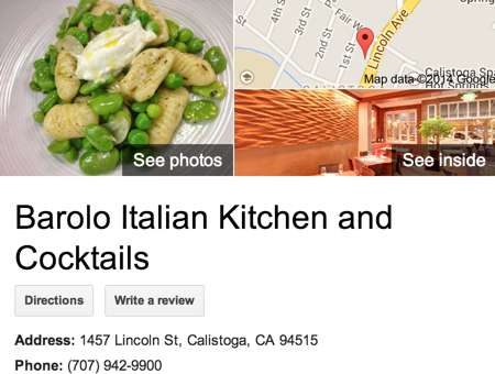Google Business View for a Restaurant.  Look Inside!